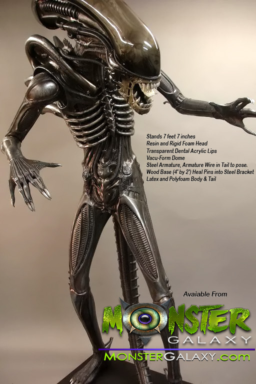 Life-size Alien Figure Statue Lifesize Alien Figure  Lifesized Alien Replica, Horror, Sci-Fi Memorabilia, Movie Alien Prop Figures Monster Alien Movies and Hollywood Props and Movie Replicas