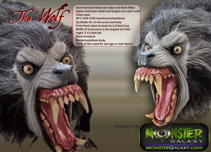 Werewolf prop 1:1 scale Movie Lifesize Wolf Prop and Movie Wolf Replica Werewolf collectibles