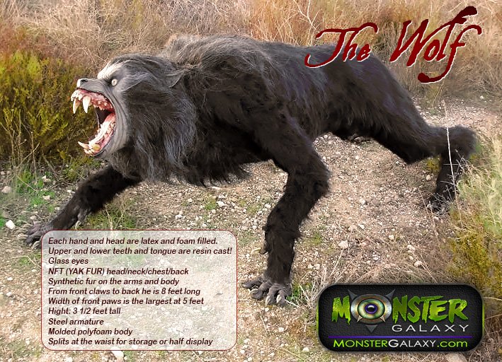 Werewolf prop 1:1 scale Movie Lifesize Wolf Prop and Movie An American Werewolf in London 1:1 scale Wolf  Collectible Lycans Figure